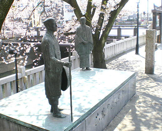 コーテック株式会社地域貢献活動松尾芭蕉碑寄贈